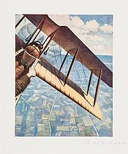 C.R.W Nevinson (1889-1946)(after) - Banking at 4000 ft