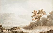 Attributed to Benjamin Barker of Bath - Mountainous landscape with lake,