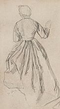 François Edouard Zier (1856-1924) - Standing female costume study,