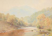 Harry Sutton Palmer (British 1852 - 1933) - Veiled Sunshine, The Path of the Trossachs; The Silver Strand, Loch Katrine; a pair
