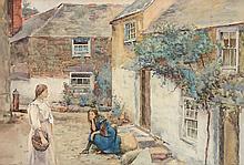 Henry Meynell Rheam (1859-1920) - Newlyn street scene