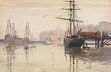 Julian Rossi Ashton (British, 1851 - 1942) - A Misty Morning, Wooloomooloo, Sydney