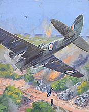 Montague Birrell Black (British, 1884-1964) - RAF Bomb & Machine-Gun German Military Camouflaged Camp