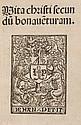 Bonaventura (Saint) Vita Christi, device on title,