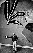 Inge Morath (1923-2002) - Pablo Picasso Unveiling Mural for UNESCO, Vallauris, France, 1958