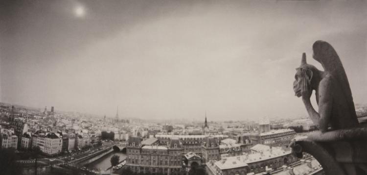 David K. Brunn (b.1956) -  Le Penseur Chimeres, Notre Dame de Paris, France, 2000