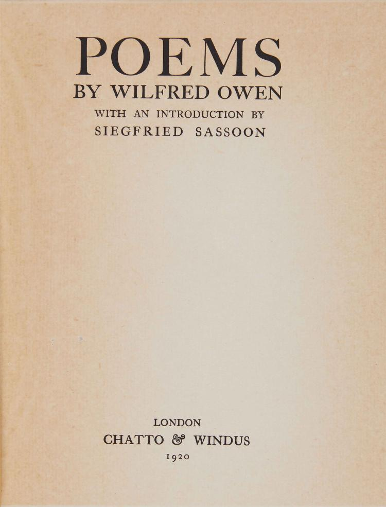 about wilfred owens poetry life