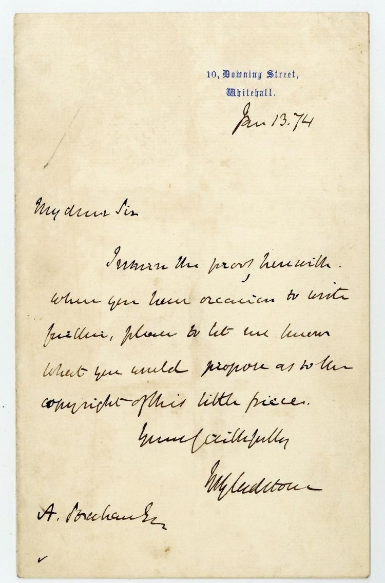 gladstone william ewart autograph letter signed asking With autograph letter signed