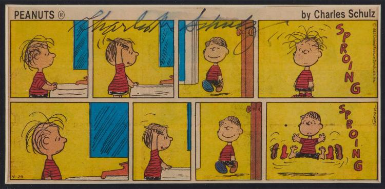 Schulz Charles Eight Frame Comic Strip Cut From A Newspa