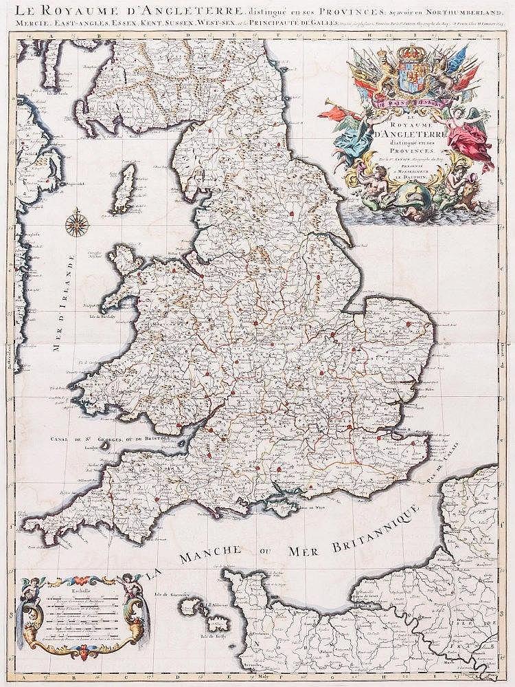 Sanson (Nicolas) - Le Royaume d'Angleterre distingué en ses Provinces,