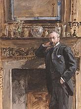 Sydney Prior Hall (1842-1922) - Gentleman in an Interior
