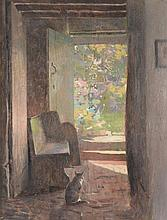 Frederick Hall (1860-1948) - The Cottage Cat