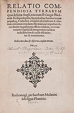 Relatio compendiosa turbarum quas Jesuitae Angli, woodcut device on title