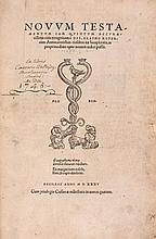 Greek & Latin. Novum Testamentum..., commentaries by Erasmus, 2 parts in 1