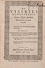 De visibili Rom'anarchia contra Nich. Sanderi Monarchiam prolegomenon...