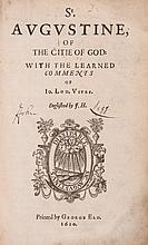 Of the Citie of God, first Edition in English, translated by John Healey