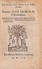 .- Apanta ta tes Kaines Diathekes [graece]. Novum ...Testamentum , 2 vol