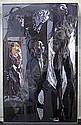 Feliks Topolski, (1907-1989), The Studio, with Jan Stevenson, Yuki, Desmond Morris, Lady Diana Cooper and Lady Windlesham, oil, 244 x 151cm (see illustration), Feliks Topolski, Click for value