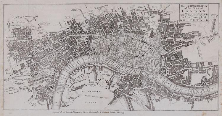Owen (William) - The Ichnography of the Cities of London and Westminster and the Borough of Southwark,