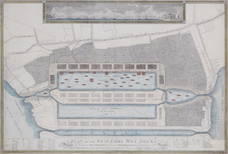 Walker (Ralph) - Plan of the West India Wet Docks,