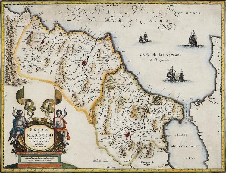 Blaeu (Willem) - Fezzae et Marocchi Regna Africae Celeberrima, describebat Abrah: Ortelius,