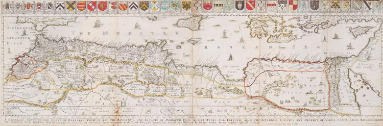 Blome (Richard) - A Generall Mapp of the Coast of Barberie,