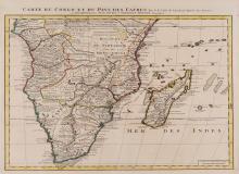 De l'Isle (Guillaume) - Carte du Congo et du Pays des Cafres,