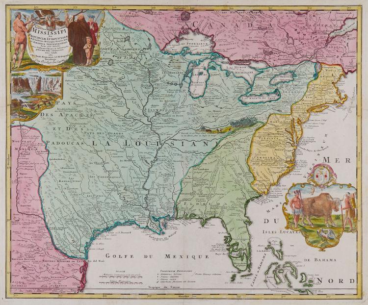 Homann (Johann Baptist) - Amplissimæ Regionis Mississipi Seu Provinciæ Ludovicianæ,