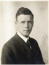 Lindbergh (Charles) - Head & shoulders photographic portrait of the aviator