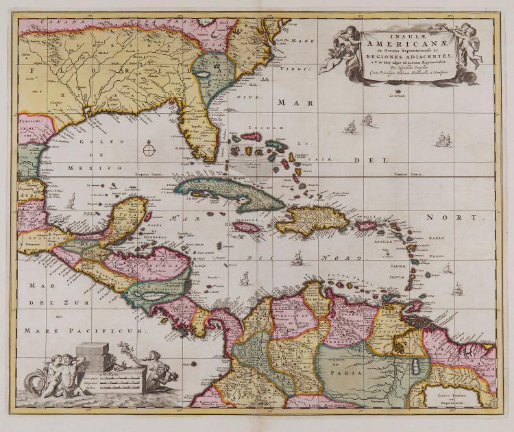 Visscher (Nicolaes) - Insulae Americanae in Oceano Septenrionali ac Regiones Adiacentes...,