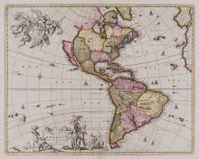 Visscher (Nicolaes) - Novissima et Accuratissima Totius Americæ Descriptio,