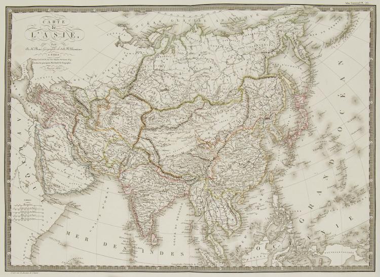 Brue (Adrien Hubert) - Carte de l'Asie,