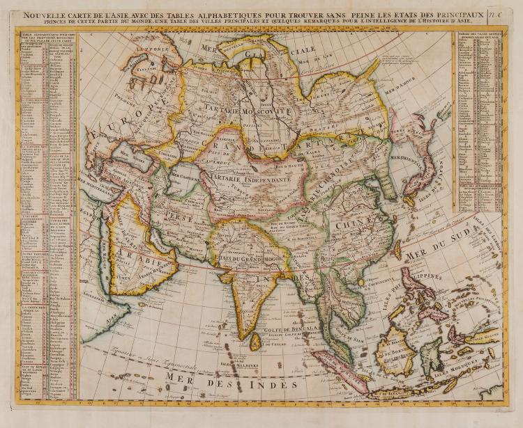 Chatelain (Henri Abraham) - Nouvelle Carte de l'Asie,