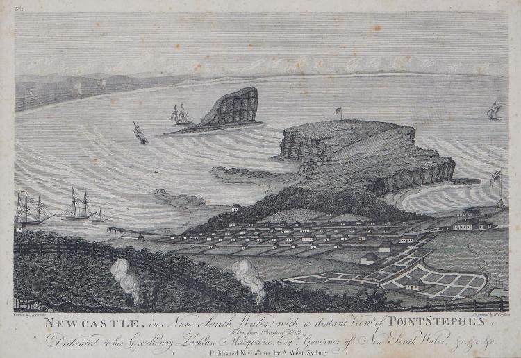 Convict Artists.- Preston (Walter) - Newcastle, in New South Wales, with a distant View of Point Stephen,