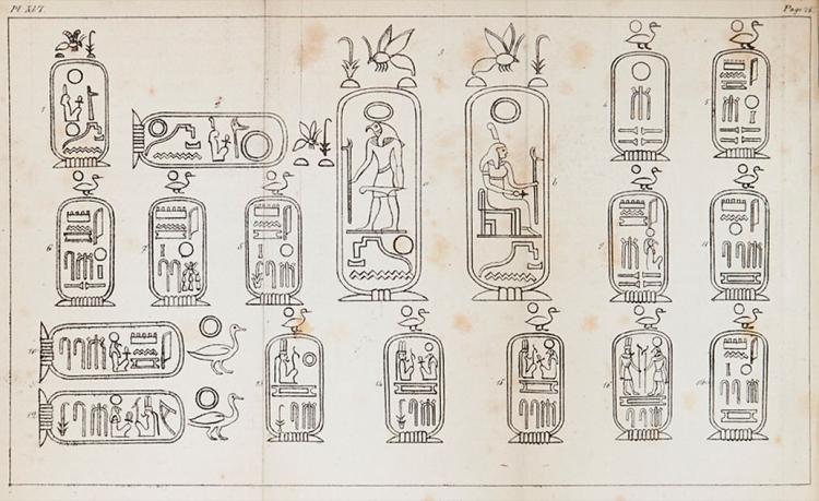 Champollion (Jean Francois) - Precis du Systeme Hieroglyphique des Anciens Egyptiens...,