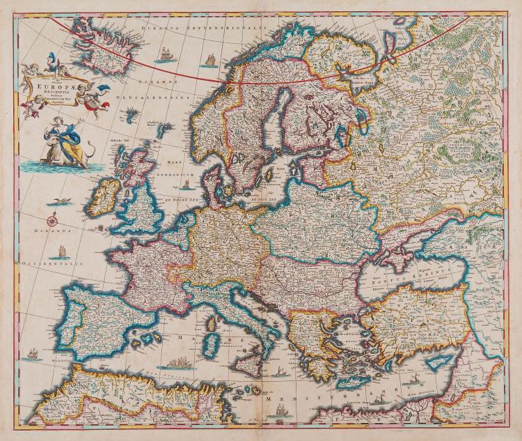 De Wit (Frederick) - Nova et Accurata Totius Europæ Descriptio,