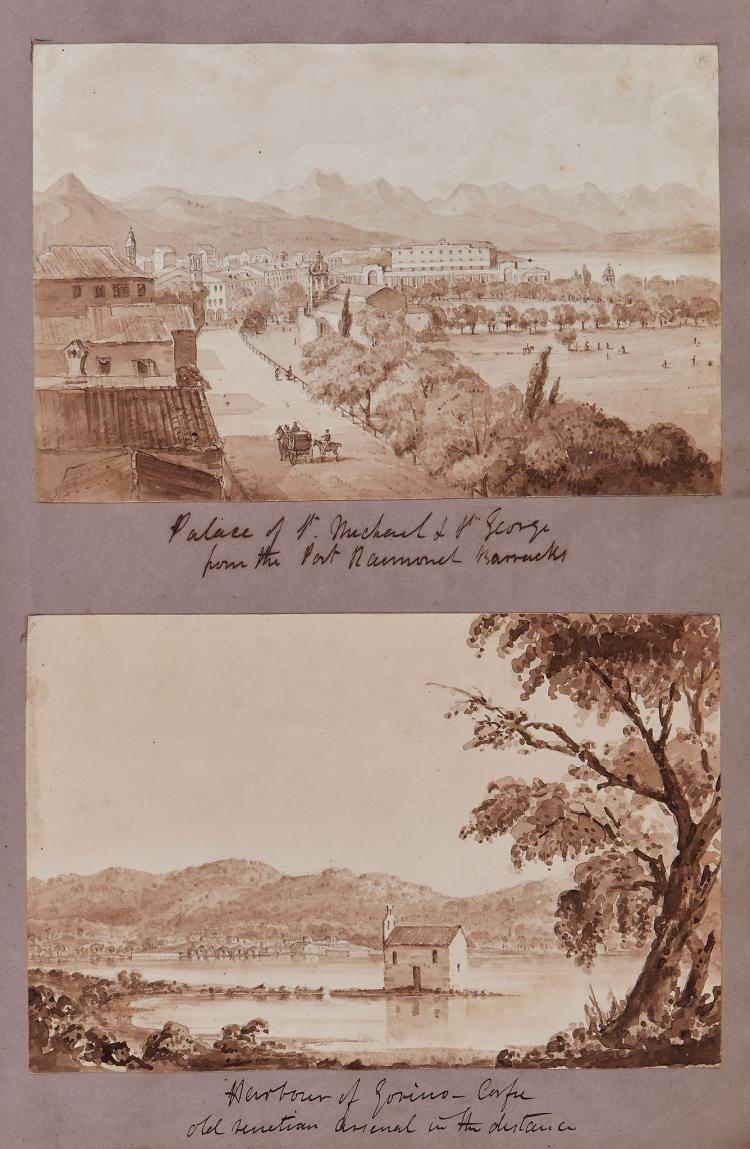Horsbrugh (James) - Album of watercolours and drawings of Mediterranean, Scottish and Grand Tour interest,
