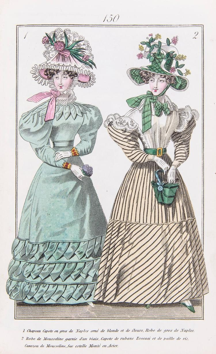 Fashion Plates.- - Townsend's Quarterly Selection of Parisian Costumes , 2 vol
