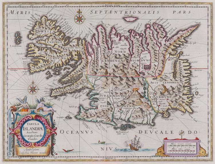 Blaeu (Willem) - Tabula Islandiæ, Auctore Georgio Carolo Flandro,
