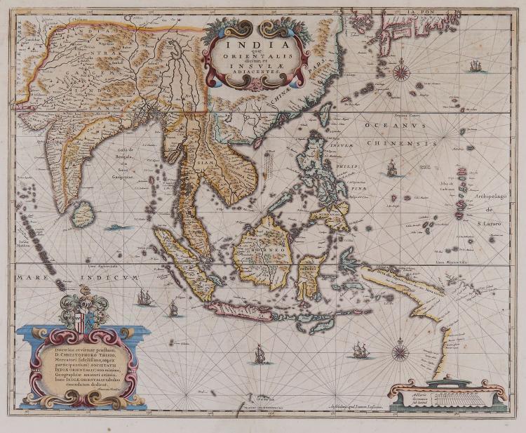 Jansson (Jan) andHenricus Hondius. - India quæ Orientalis dicitur, et Insulæ Adiacentes,