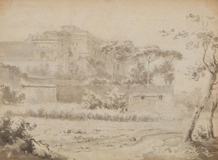 English School (18th century) - The Vatican from the Road to Ponte Mola,