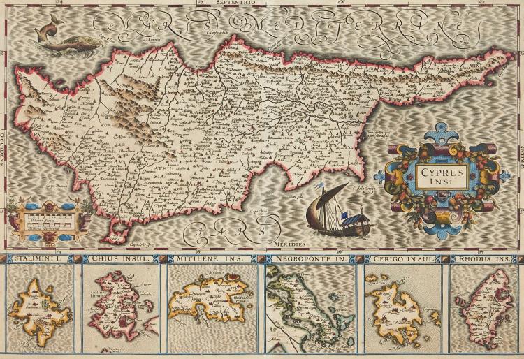 Mediterranean.- Hondius (Jodocus) - Cyprus Ins.,