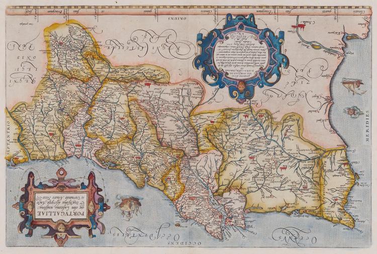 Ortelius (Abraham) - Portugalliae que olim Lusitania, novissima & exactissima descriptio,