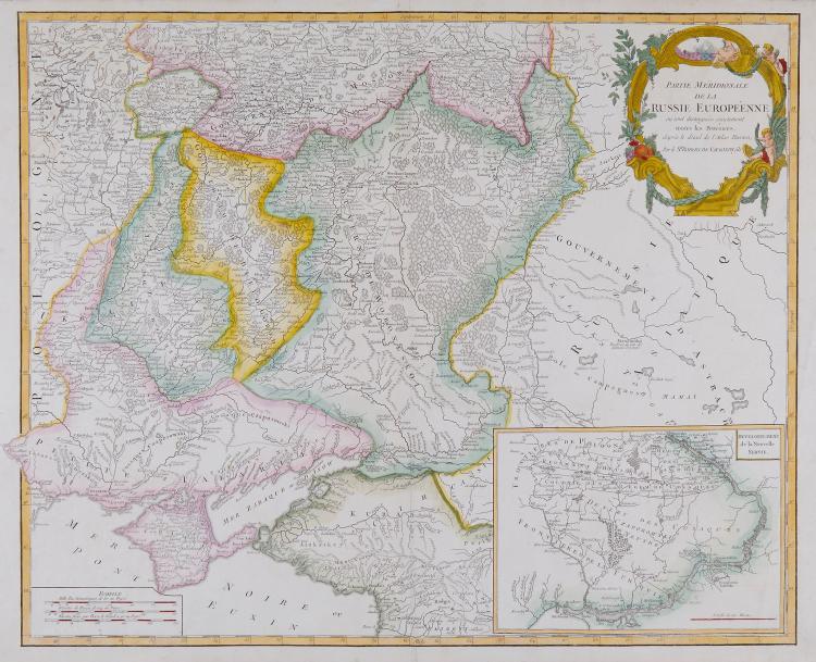 Robert de Vaugondy (Gilles and Didier) - Partie Septentrionale de la Russie Européenne; Partie Méridionale de la Russie Européenne,