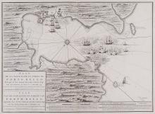 Mortier (Pierre) - Plan de la Ville, Rade et Forts de Porto Bello, Pris par le Vice Amiral Edouard Vernon Esq.r,