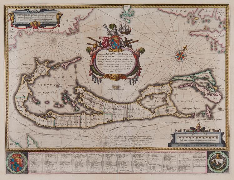 Blaeu (Willem) - Mappa Æstivarum Insularum, alias Barmudas,