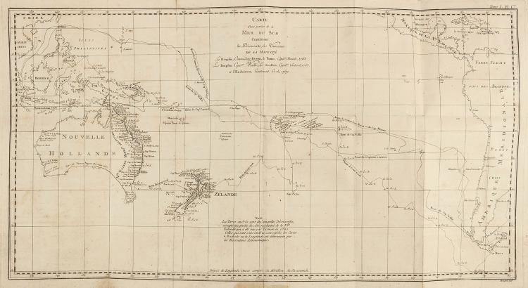 Hawkesworth (John) - Carte et Figures des Voyages entreprise par ordre de sa Majesté Britannique,