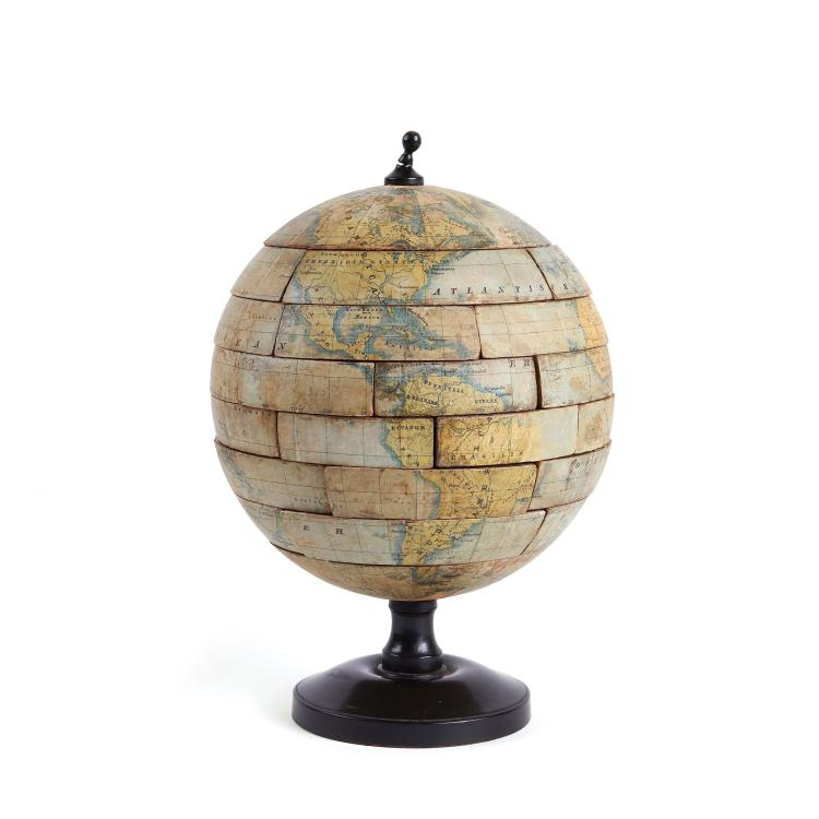 [?Kapp. Publisher] - Weltkugel-spiel [an instructive puzzle globe],