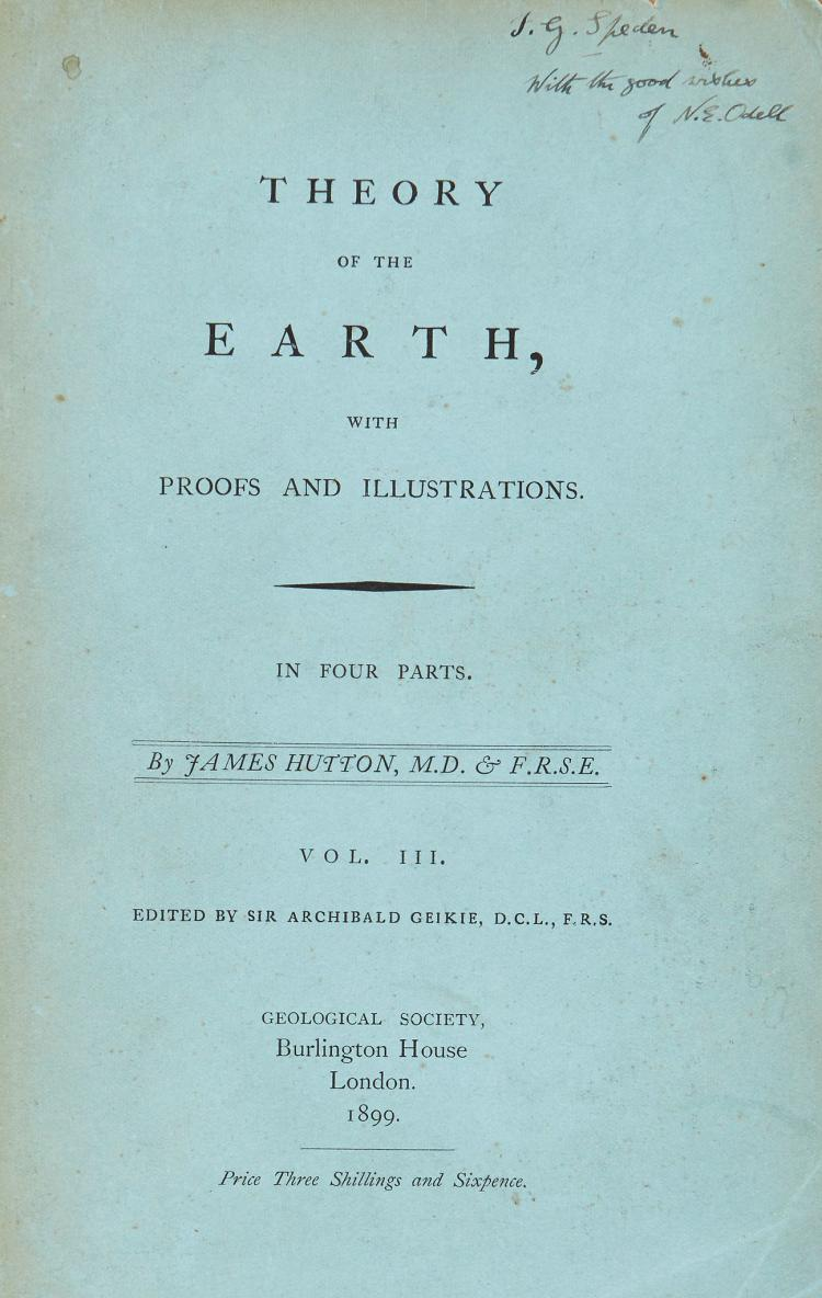 Odell (Noel Ewart).- Hutton (James) - Theory of the Earth...,