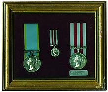 A Crimean War and Indian Mutiny Pair awarded to Private Henry Campbell